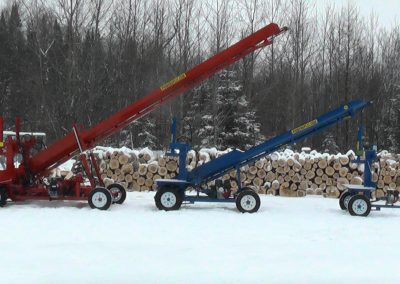 3 machines conveyor high 3 400x284 Overview Gallery, Firewood Splitter, Log Lift