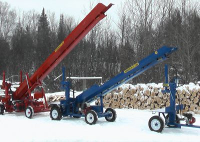 3 machines conveyor high 5 400x284 Overview Gallery, Firewood Splitter, Log Lift