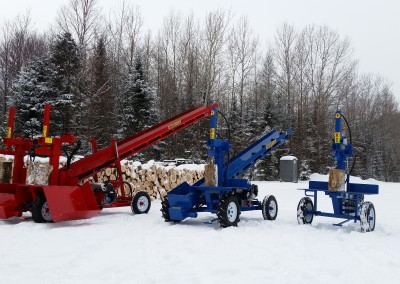 3 splitters 2 1 400x284 Overview Gallery, Firewood Splitter, Log Lift