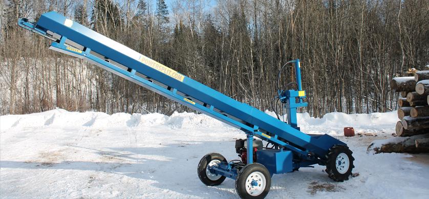 5 1 Single Vertical Splitter , Firewood Processor, Log lift processor
