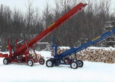double and single conveyor high 11 400x284 Overview Gallery, Firewood Splitter, Log Lift