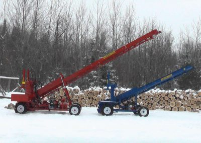 double and single conveyor high 2 400x284 Overview Gallery, Firewood Splitter, Log Lift