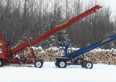 double and single conveyor high 3 400x284 Overview Gallery, Firewood Splitter, Log Lift