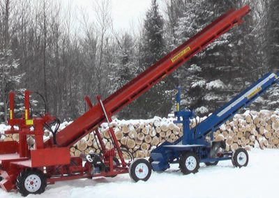 double and single conveyor high 4 400x284 Overview Gallery, Firewood Splitter, Log Lift