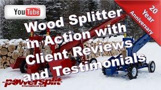 clients reviews Wood Splitter Videos, Wood Splitter Reviews, Firewood
