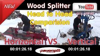 head to head horizantal vs vertical Wood Splitter Videos, Wood Splitter Reviews, Firewood