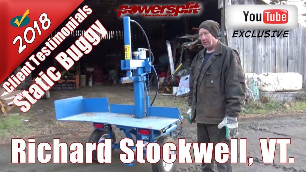 Wood Splitter Static Buggy Testimonial from Richard Stockwell VT 1024x576 Wood Splitter Videos, Wood Splitter Reviews, Firewood