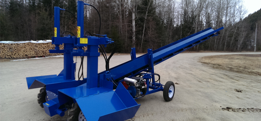 3 1 Double Vertical Splitter, Conveyor, Firewood