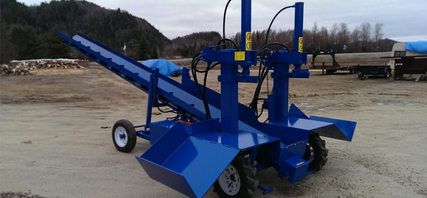 4 Double Vertical Splitter, Conveyor, Firewood