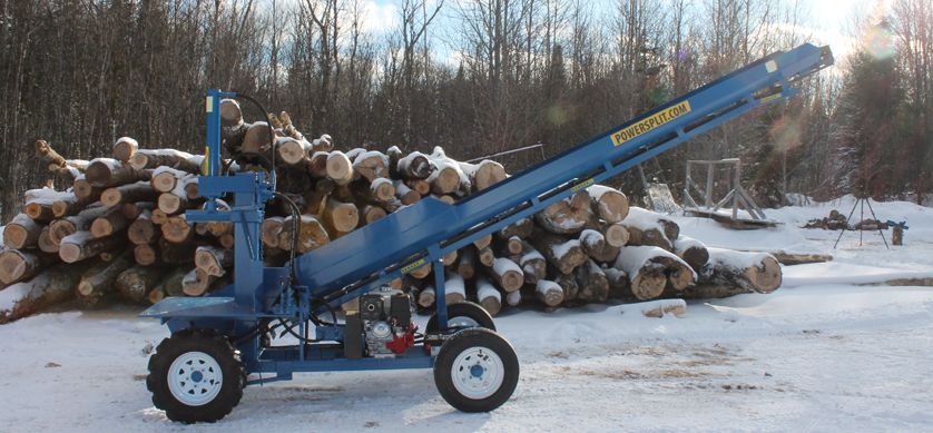 1 4 Single Vertical Splitter , Firewood Processor, Log lift processor