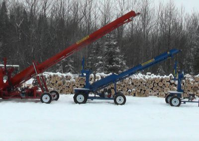 3 machines conveyor high 2 400x284 Overview Gallery, Firewood Splitter, Log Lift