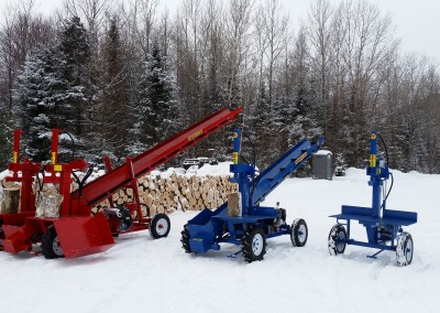 3 splitters 1 400x284 Overview Gallery, Firewood Splitter, Log Lift