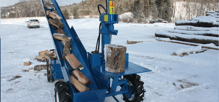 4 3 Single Vertical Splitter , Firewood Processor, Log lift processor