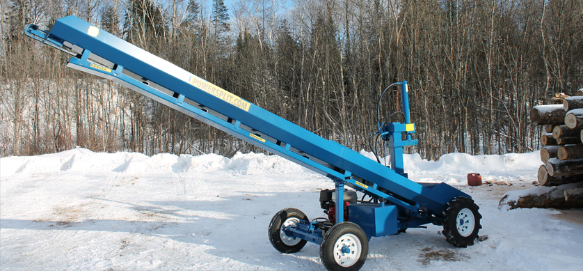 5 1 Single Vertical Splitter , Firewood Processor, Log lift processor