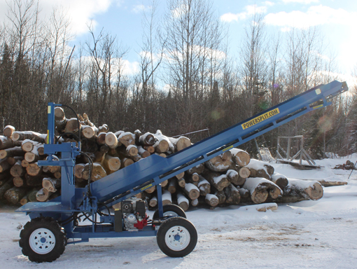 The Single Vertical Wood Splitter with Conveyor