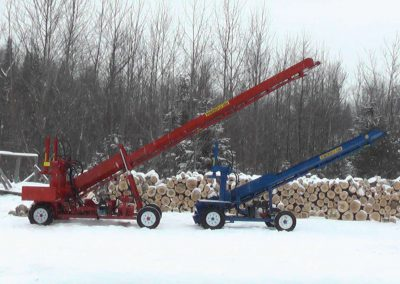 double and single conveyor high 1 400x284 Overview Gallery, Firewood Splitter, Log Lift