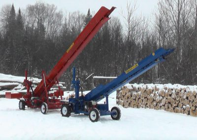 double and single conveyor high 13 400x284 Overview Gallery, Firewood Splitter, Log Lift