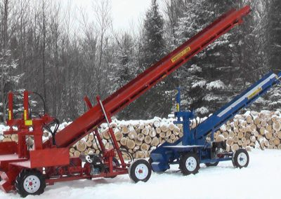 double and single conveyor high 5 400x284 Overview Gallery, Firewood Splitter, Log Lift