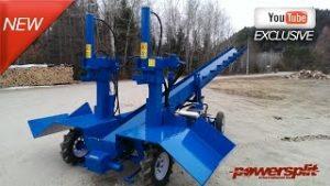 Industrial Wood Splitter Demo 300x169 Industrial Double Wood Splitter with Conveyor