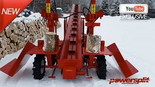 double vertical wood splitter with center Wood Splitter Videos, Wood Splitter Reviews, Firewood