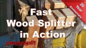 fast wood splitter 300x169 Fast Wood Splitter in Action
