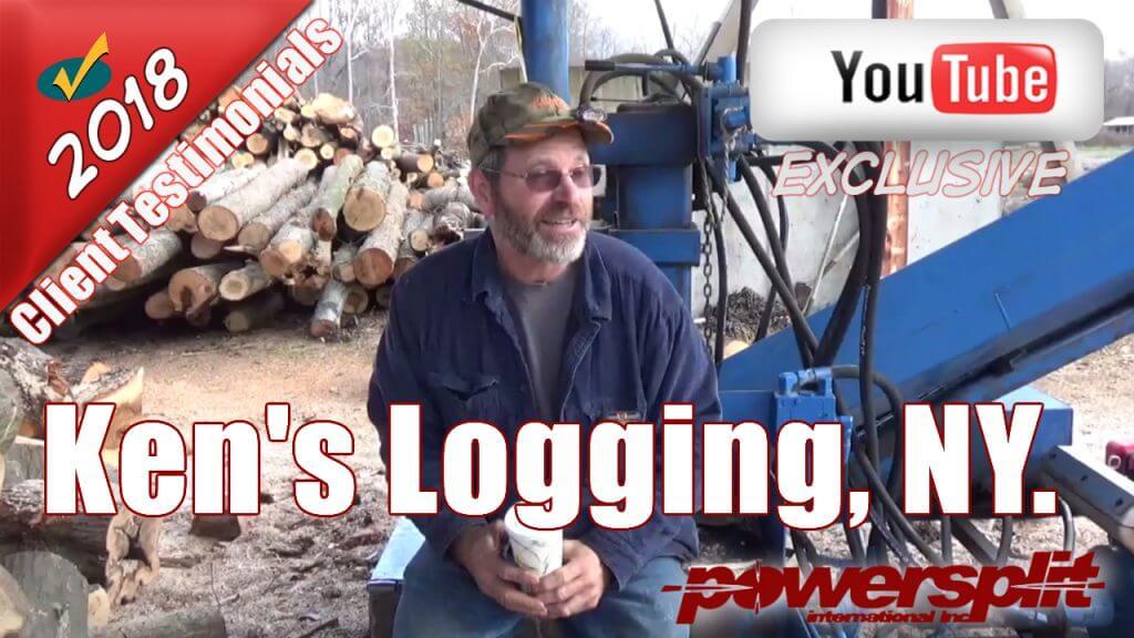 Kens Logging NY Testimonial 1024x576 Wood Splitter Videos, Wood Splitter Reviews, Firewood