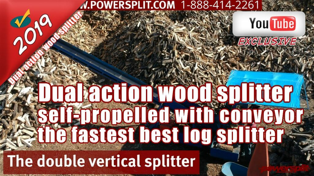 Dual action wood splitter self propelled with conveyor the fastest best log splitter 1024x576 Wood Splitter Videos, Wood Splitter Reviews, Firewood